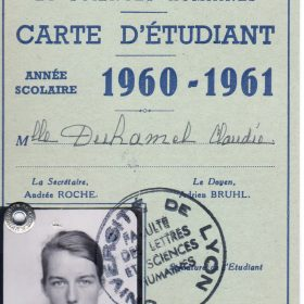 carte.étudiante Archive privée- Duhamel