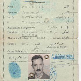 carte.identité.Jean.1962-ArchivesPrivées-Polette