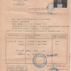laissez-passer.Maroc.1962-ArchivesPrivées-Polette