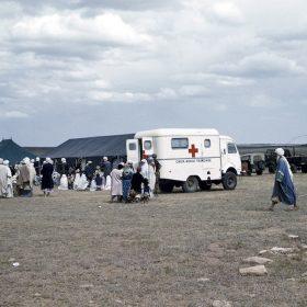 el aricha-camp réfugiés venant du maroc-juin 62