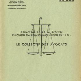 rapport des RG sur le collectif des avocats mai 1960 ADR  248W139