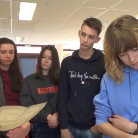 RP Gouttenoire avec les élèves du lycée de la plaine de l'Ain